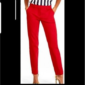 Banana Republic Red Martin Fit Ankle Pants 4P